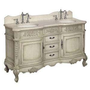 Vanity In Antique Parchment With Marble Vanity Top In Cream Double Sink Bathroomdouble