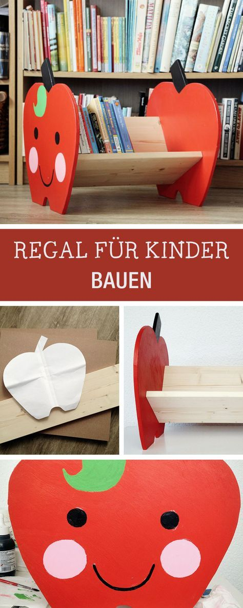 DIY Möbel: Witziges Regal für Kinder bauen / cute book shelf for kids, diy furniture via DaWanda.com