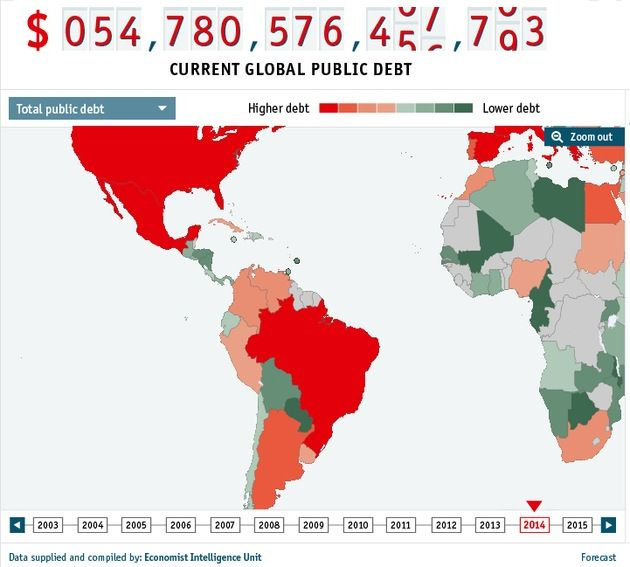 Mapa: ¿Cuáles son los países con mayor deuda pública del mundo? – RT