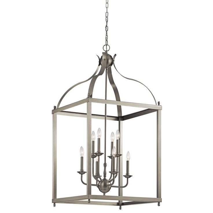 Sale Kichler Lighting Larkin Chandelier Foyer In Brushed Nickel From The Original Bowery Lights Shop Our Large Collection And Save On