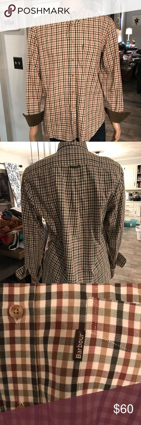 Barbour Button up Shirt Men's Medium Barbour button up shirt/ great condition/ Medium Barbour Shirts Casual Button Down Shirts