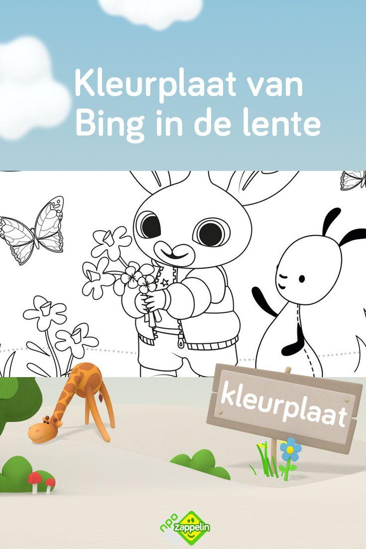 Kleurplaat Bing In De Lente Kleurplaten Kleurplaten Voor Kinderen Bloemen Kleurplaten