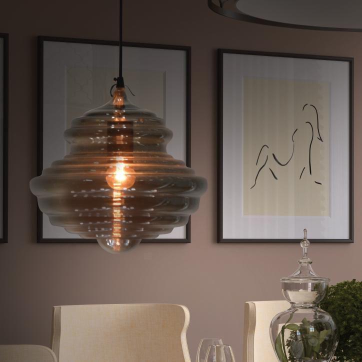 Kourtakis Lighting - #Λαμπα μονόφωτη. Πολύ μοντέρνο #γυαλινο #φωτιστικο στο χρώμα του καπνού.  Είναι από τα #φωτιστικα με άποψη και ντύνει ζεστά και αρμονικά τους χώρους. Θα το αγαπήσετε. Δείτε τα χαρακτηριστικά της: http://kourtakis-lighting.gr/fotistika-monofota-fotistika-kremasta-indoor-metaliko-fotistiko-industrial-fotistiko-diakosmisi/2610-01065-06-.html