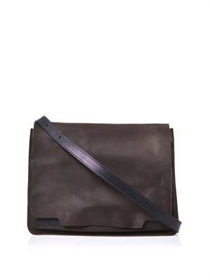 Drake leather messenger bag