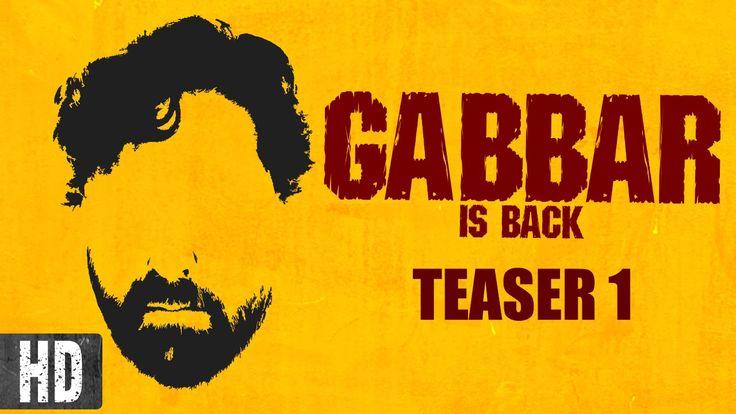 Gabbar is Back   Starring Akshay Kumar, Shruti Haasan   Teaser 1