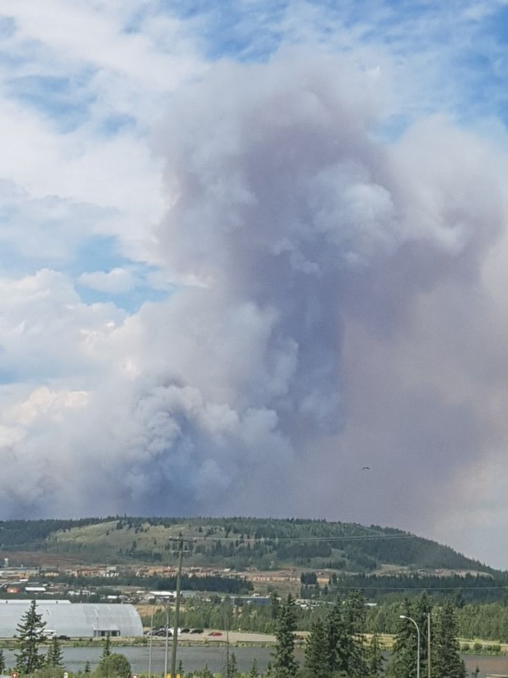 Gustafson wildfire near  100 mile house, B.C. wildfires 2017