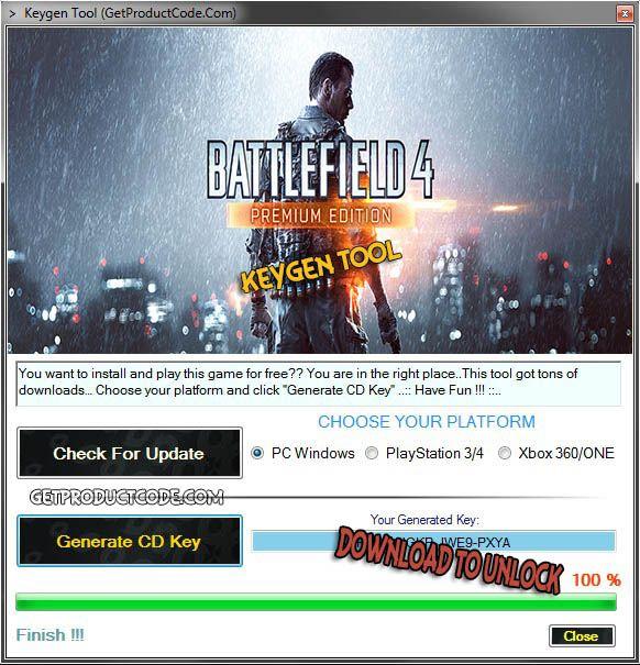 Battlefield 4 Free CD Key Generator