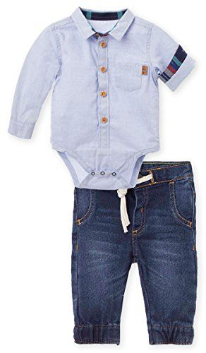 OFFCORSS Matching Brother Siblings Pants and Bodysuit Button Up Shirt Outfits for Boys Sets Ropita Conjunto Bebes Varon Nio Recien Nacido Ropa 3 6 M *** Read more reviews of the product by visiting the link on the image.Note:It is affiliate link to Amazon.