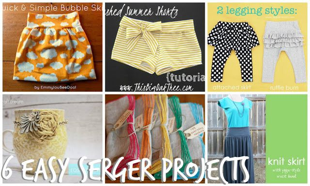 6 serger projects
