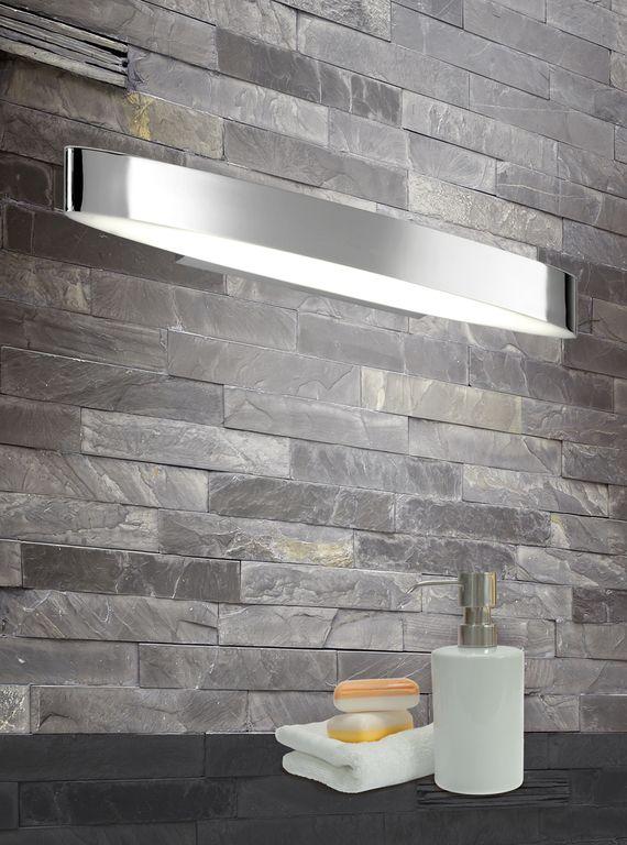 H2O seinävalaisin LED 2x6 W kromi IP44    Lampun tyyppi: 2 × SMD 6 W  LED (sis.toimitukseen)  Jännite: 230V  Valoteho: 2 x 600 lumenia  Valon sävy: 3000 kelviniä (lämmin valkoinen)  Kotelointiluokka: IP44 (roiskevesitiivis)  Rungon materiaali: Metalli  Rungon väri: kromi  Kuvun materiaali: akryyli  Kuvun väri: valkoinen  Korkeus: 5 cm  Leveys: 50cm  Syvyys: 8,5 cm  Valaisimessa virtakytkin  Takuu: 5 vuotta