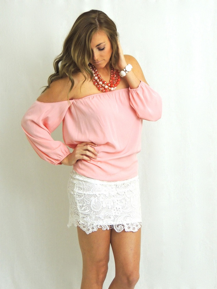 Wisteria Lane Off the Shoulder Blouse - Blush Pink - $35.00 | Daily Chic Tops | International Shipping