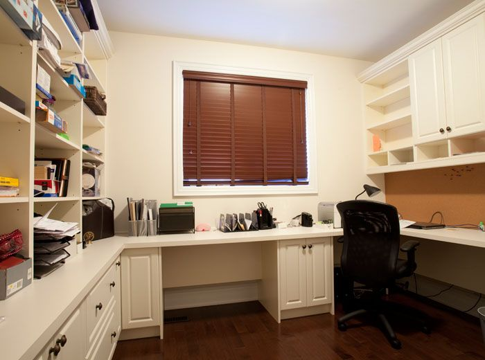 Custom library unit with home office