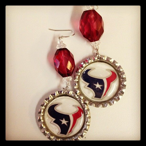 #Texans - Vintage Bead (red beads are limited) Call or email to order: 2817998046 krgum@sbcglobal.net
