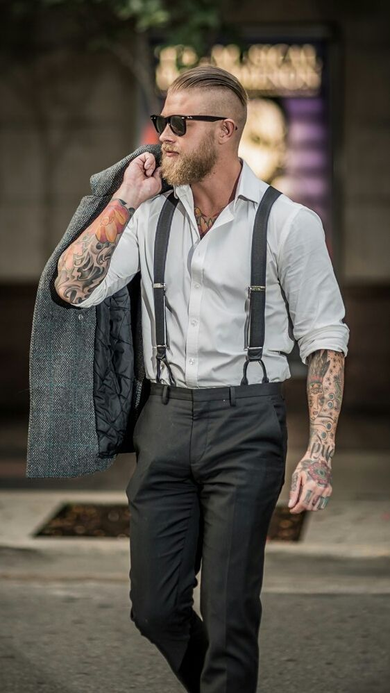 Wood chopper in the city...normally don't care about suits ( I like a manual labor kinda fella, in work clothes), but...holy smokes, he cleans up nice!