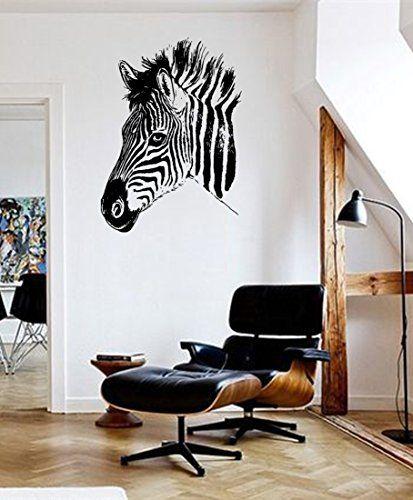 ik658 Wall Decal Sticker zebra African animal africa thoroughbred horse bedroom StickersForLife http://www.amazon.com/dp/B00U3ZEUF8/ref=cm_sw_r_pi_dp_yMedvb1ASYT4G