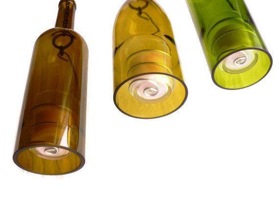 Weinflasche Kerzenleuchter hängend Hurricane Laternen von BoMoLuTra