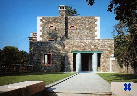 Aldo Rossi - Villa for Alessandra and Stefano Alessi, Suna di Verbania, Italy, 1989-94