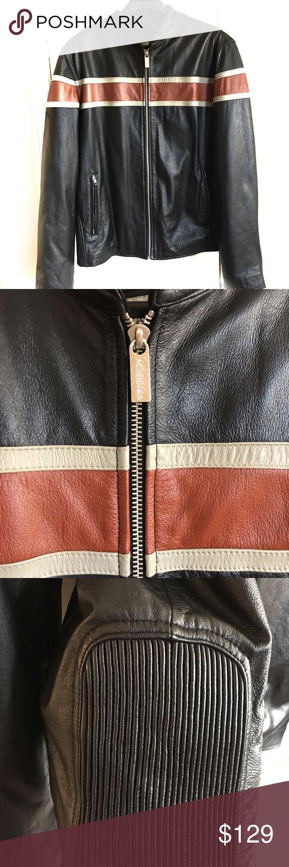 M. Julian for Wilson Leather Black Leather Jacket EUC