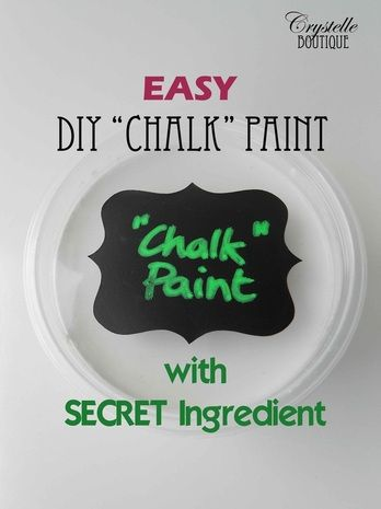 "DIY ""CHALK"" paint w/ CORNSTARCH!!!! (She offered An alternative to sealing the furniture piece w/ glaze instead of the usual wax.)"