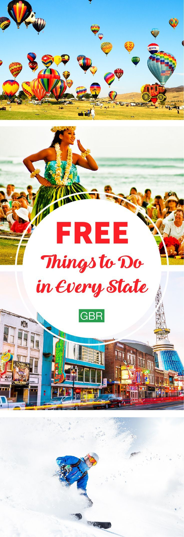 Check out the best thing to do in every state for FREE! Talk about budget travel....
