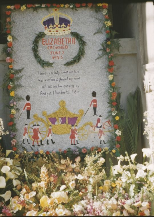 231586PD: Floral tribute to Queen Elizabeth II at the Perpetual Trustees Building, Perth, September 1953 https://encore.slwa.wa.gov.au/iii/encore/record/C__Rb1986340