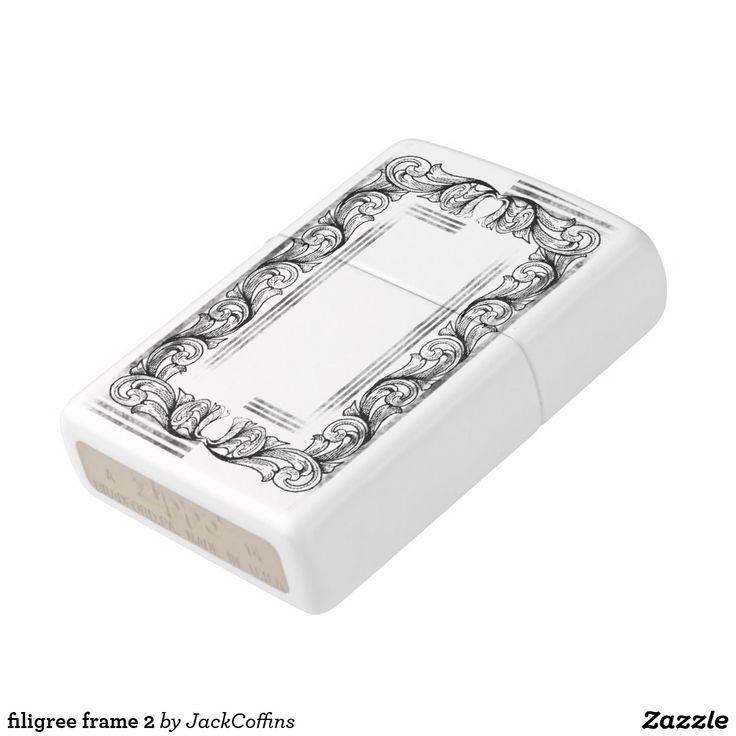 filigree frame 2 zippo lighter