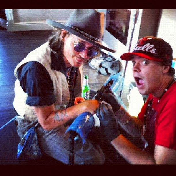 That time we tattooed Johnny Depp