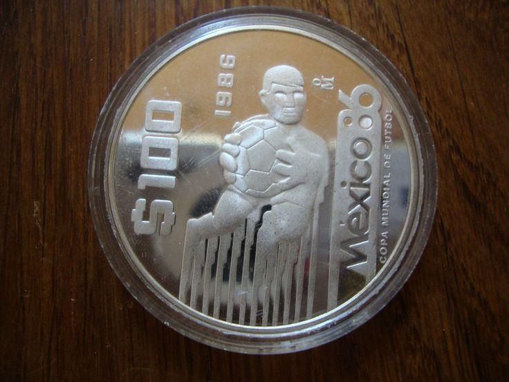 #U935 Mexico 1986 World Cup 100 Pesos 1986 Silver Coin  | eBay