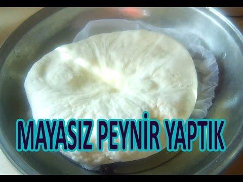 El Yapımı Mayasız Peynir Tarifi - YouTube
