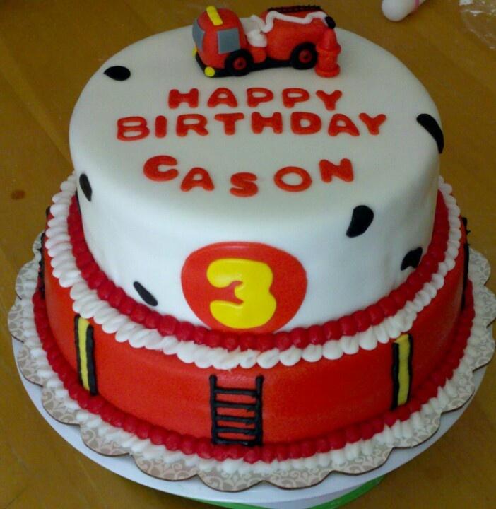 fireman birthday 3rd birthday birthday cakes birthday parties birthday ...