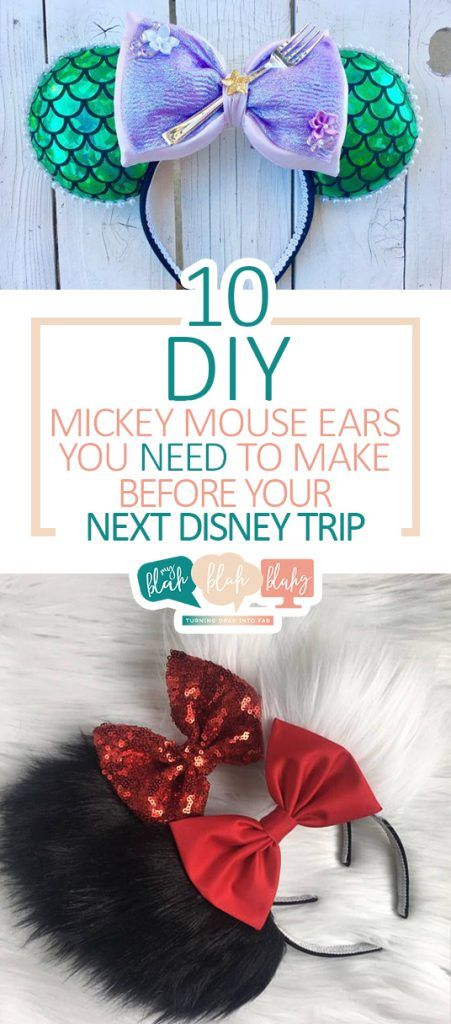10 DIY Mickey Mouse Ears You NEED to Make Before Your Next Disney Trip| DIY Mickey Mouse Ears, DIY Projects, DIY Projects for Kids, Mickey Mouse DIYs, Mickey Mouse Craft Projects, Craft Projects for Kids, Popular Pin