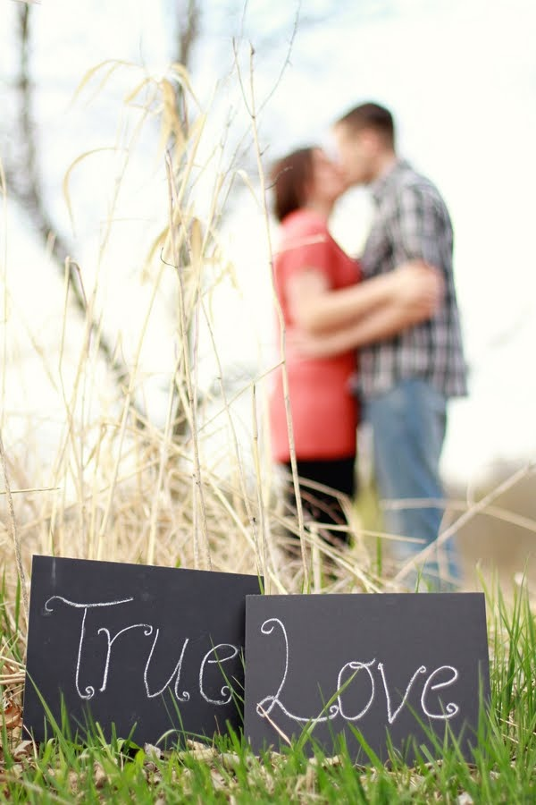 Engagement Photo Session with cute sign... What if we put a scripture in the chalk board?