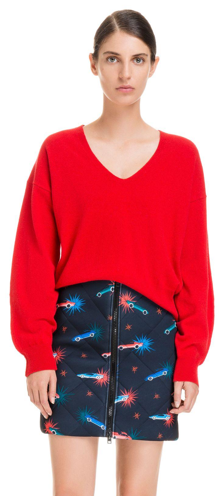 Jersey escotado rojo | BIMBA Y LOLA ®