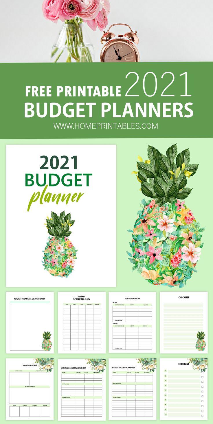 Free printable budget planner 2021 grow your savings