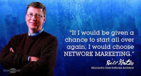 Bill Gates on Network Marketing
