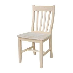 International Concepts Unfinished Wood Dining Chair (Set of 2)-C-61P - The Home Depot