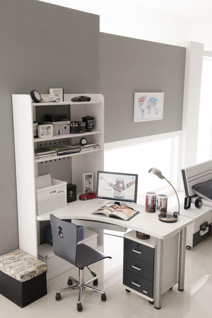Unisex Black&White computer desk