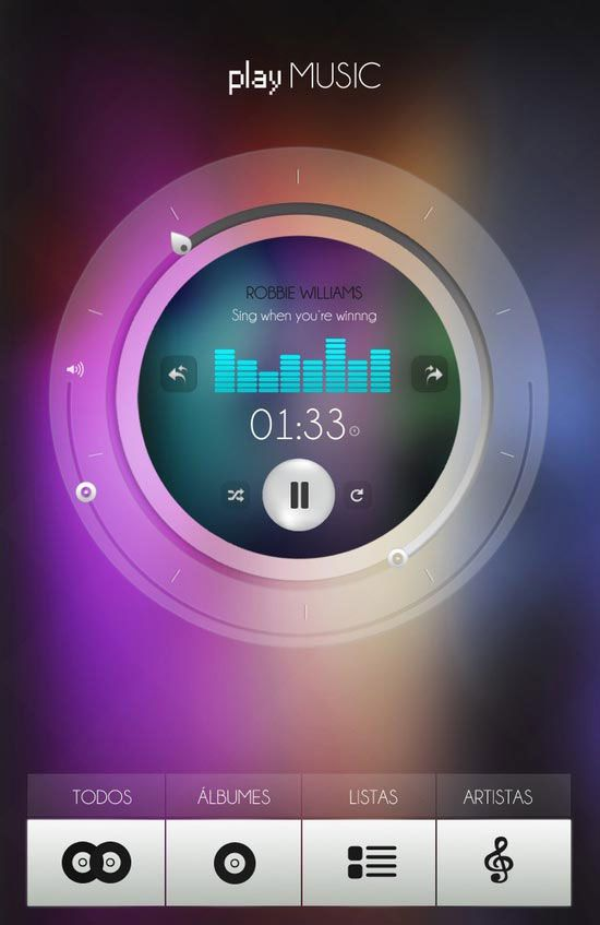 playMusic User Interface Design