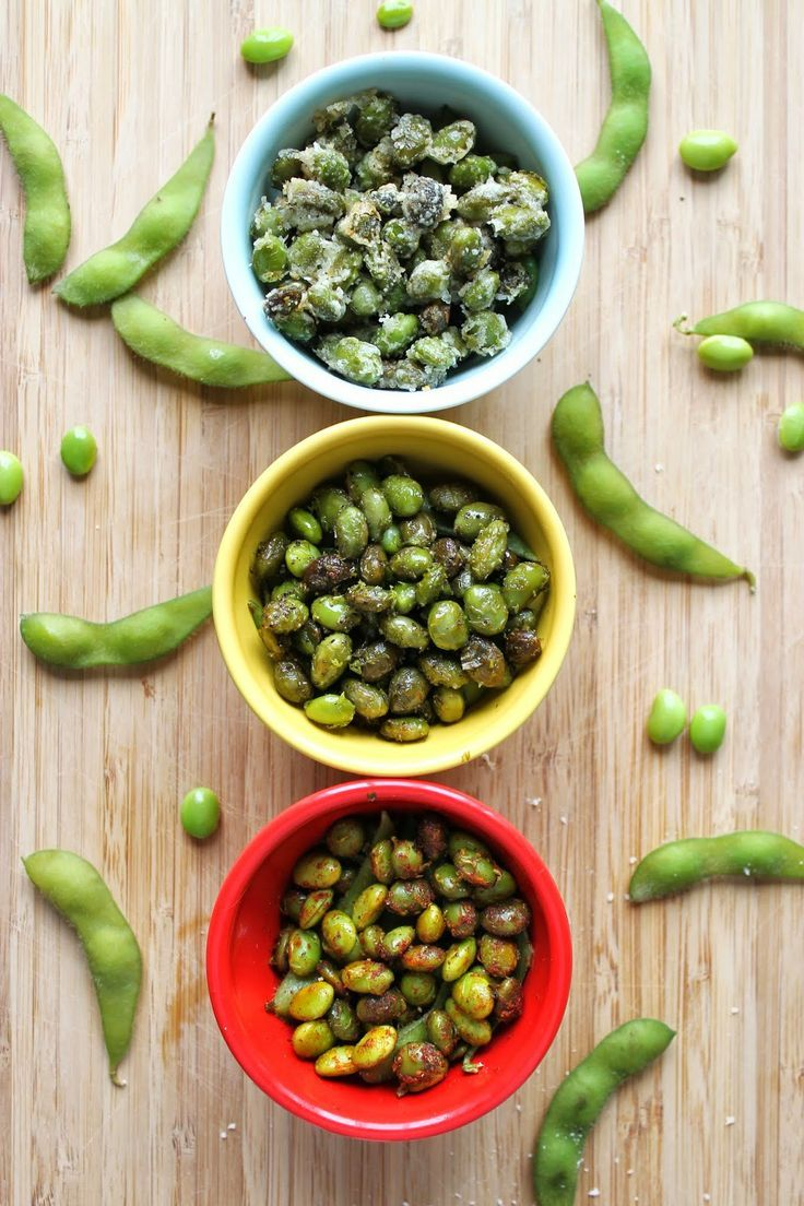 Healthy Snack --> Flavored Roasted Edamame