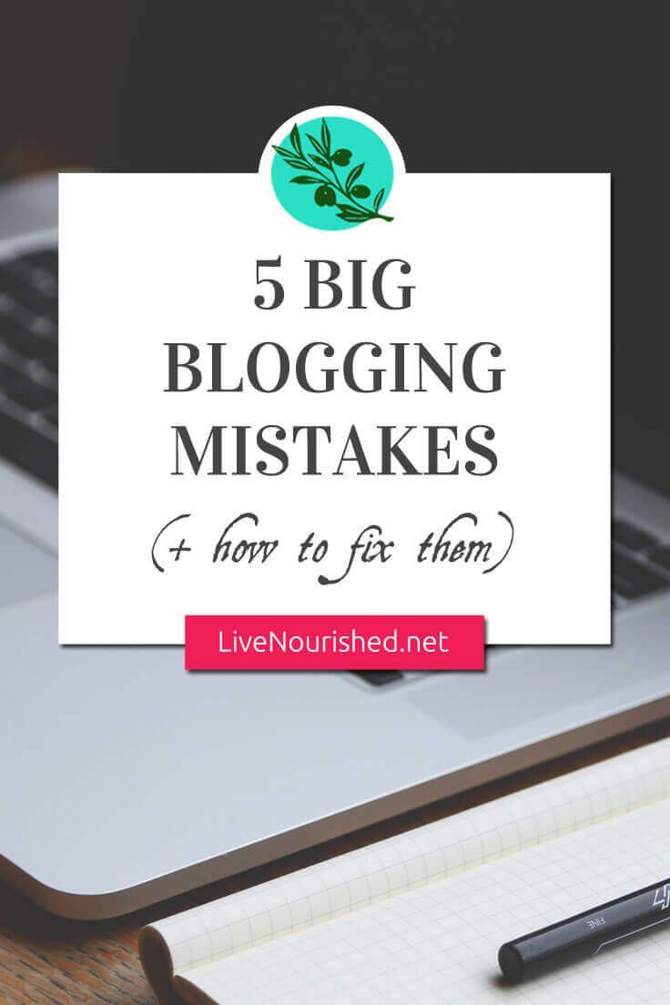 Does something with your blog need to change but you're not quite sure what, exactly? Make sure you��re not making one of these 5 big blogging mistakes...