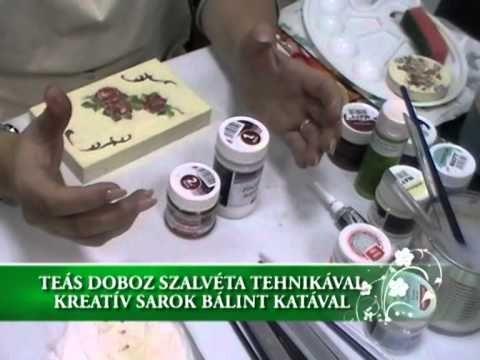Teás doboz szalvéta tehnikával - Kreatív sarok Bálint Katával
