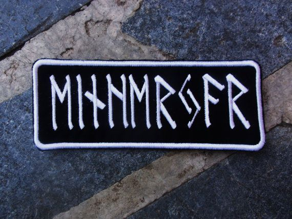custom embroidered name patch rune norse nordic by bohemianblue, $12.00