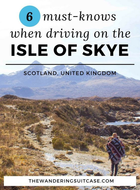 Driving Tips for Isle of Skye, Scotland. Road trip advice, everything you need to know about traveling to the Scottish Highlands.