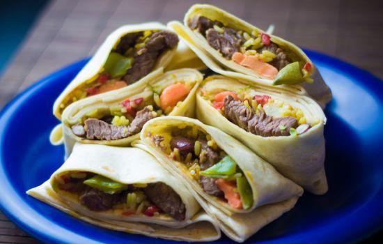 Burrito z warzywami po meksykańsku