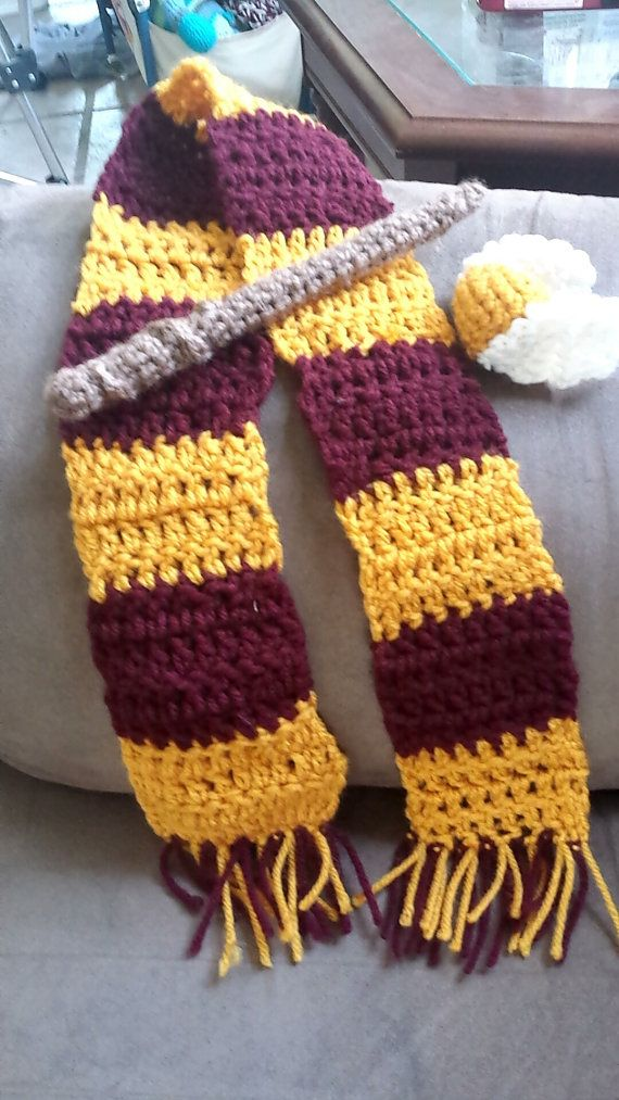 Crochet Harry Potter Baby photo probably. Wand, scarf, and ...