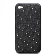 Swarovski Swanflower Black iPhone Case
