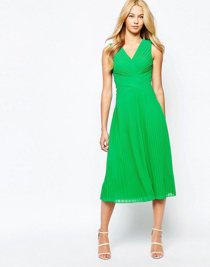 Colorful Spring Evening Midi Dresses