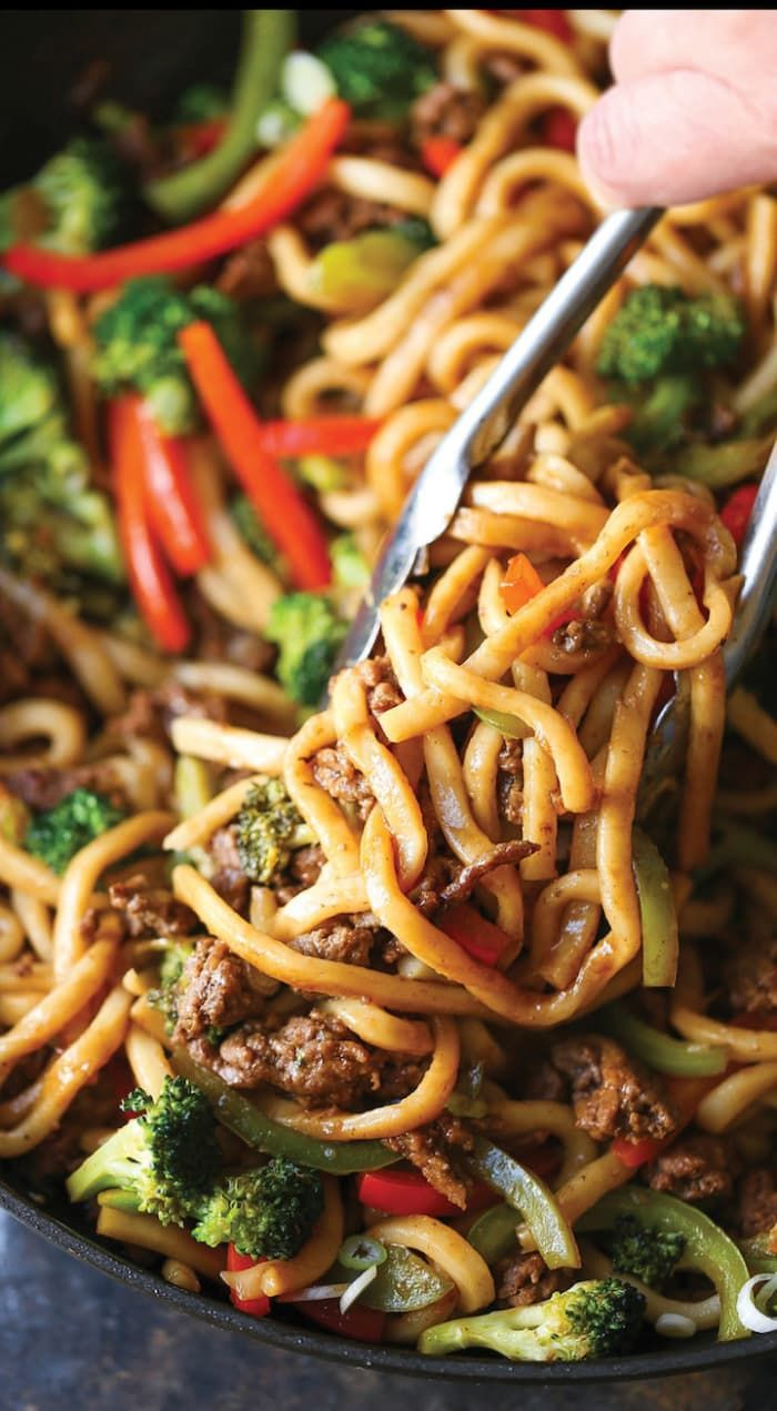 This simple stir-fry sauce made with soy sauce, rice wine vinegar, brown sugar, garlic, ginger, sesame oil, and sriracha would take any weeknight dinner to the next level. Get the recipe.
