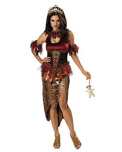 premier voodoo priestess cheap horror halloween costume for women - Cheap Creepy Halloween Costumes