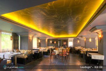 Flexfire LEDs Accent Lighting - LED strip lights for restaurants, bars and clubs. Bon appetit! www.FlexfireLEDs.com #moodlighting